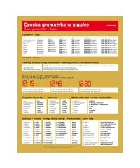 Czeska gramatyka w pigułce